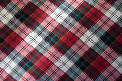 Chequered multi colored viscose fabric from above Stock Images
