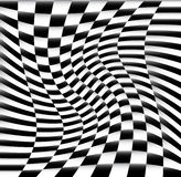 Chequered Pattern / Background With Swirling Effect Stock Photos