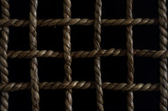 Chequered pattern with a rope Royalty Free Stock Photo