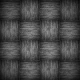 Chequered pattern wooden black background Royalty Free Stock Photo