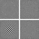 Chequered patterns set. Textured backgrounds. Royalty Free Stock Image