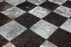 Chequered paving slabs Royalty Free Stock Images