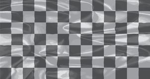 Chequered silk Flag. A racing black and white chequered silk flag Royalty Free Stock Images