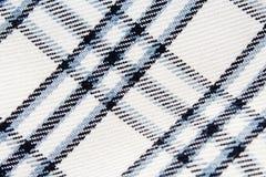 Chequered sprawdzał tkaniny tekstury smokingowego materialnego sukiennego wzór Fotografia Stock