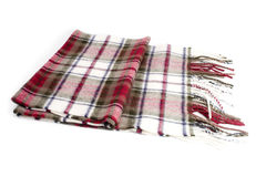 Chequered wool scarf, neckerchief Stock Images