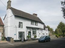 Chequersna pub, Fowlmere, UK Arkivfoto
