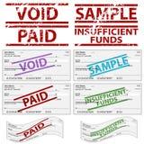 Cheques personales estampados Fotos de archivo libres de regalías