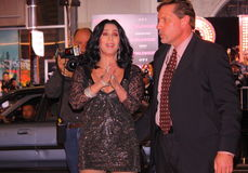 Cher. Arriving at the premiere of her movie Burlesque in Hollywood Stock Image