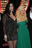 Cher Christina Aguilera Arkivfoto