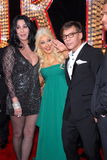 Cher, Christina Aguilera, Steve Antin Stock Photo