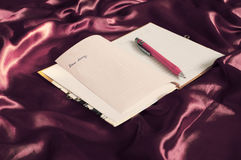 Cher journal intime Photo stock