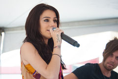 Cher Lloyd. ROSEVILLE, CA – August 8: Lloyd Cher performs live at Galleria shopping mall in Roseville, California on August 8, 2012 stock photos