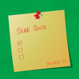 Cher message manuscrit de Santa images libres de droits