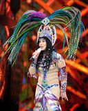 Cher Performs in Concert stock photography
