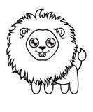 Cher petit lion Coloration de petit animal de lion Images libres de droits