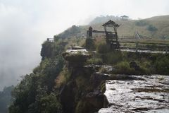 Cherapunjee Shillong Indien Arkivbilder