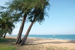 Cherating海滩,关丹,马来西亚 免版税库存图片