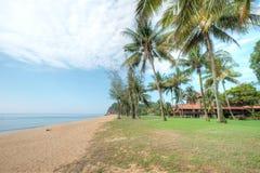 Cherating海滩,关丹,马来西亚 免版税图库摄影
