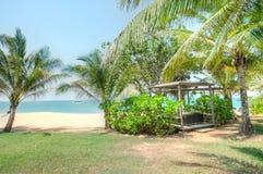 Cherating strand, Kuantan, Malaysia Royaltyfria Foton