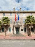 Architecture of the Cherbourg-Octeville, France. Cherbourg-Octeville, France - May 22, 2017: View of the Town Hall Hotel de ville of Cherbourg-Octeville - a Stock Images