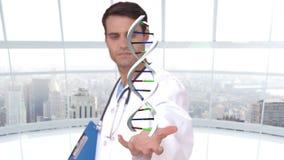 Chercheur analysant l'ADN