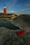 Chercheurs finlandais de phare d'Archipalego Photos libres de droits