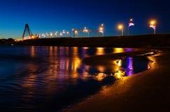 Cherepovets Październik most Obraz Royalty Free