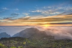 Cherfe panoramic lookout sunset Royalty Free Stock Images