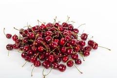 Cheries succosi rossi frutta eccellente, alimento antiossidante dell'alta energia, ciliege mediterranee rosse succose del ripetit immagini stock libere da diritti