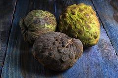 Cherimoya fruits also known as custard apple Stock Photos