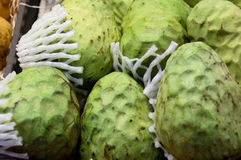 Cherimoya green exotic fruit called a sugar apple. Royalty Free Stock Images