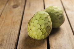 Cherimoya tropical fruit. With a sweet flavor and intense Royalty Free Stock Images