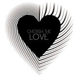 Cherish the Love. An abstract illustration for Valentines day Stock Photography