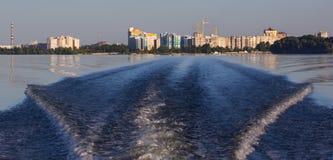 Cherkassy city water in Ukraine Stock Image