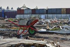Cherkizovsky rynek po zamykać Zdjęcia Stock