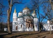 救主的主显圣容大教堂在Chernigiv,乌克兰 库存照片