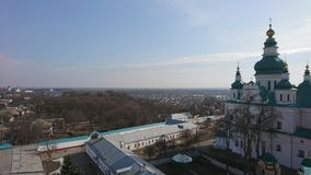 Chernigov A torre de sino no monastério da trindade Fotos de Stock