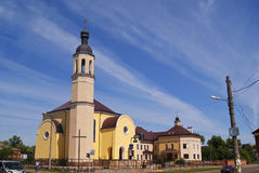 CHERNIHIV, 04.07.2015 - Roman catholic church in Chernihiv, Ukra Royalty Free Stock Photo