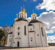 Chernihiv Ukraina - Oktober 19, 2016: Kyrka för ` s för St Catherine, Chernihiv Ukraina Europa europeiska kulturella monument Royaltyfria Foton