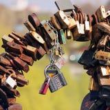 Chernihiv, Ukraine - April 10, 2019: Many old door locks close up royalty free stock image
