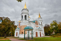 Chernihiv, Ukraine - 19. Oktober 2016: St.-Kathedrale der Transfiguration unseres Retters, 11. Jahrhundert, Chernihiv, Ukraine Stockbilder