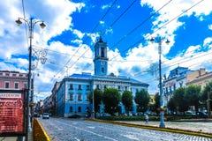 Chernivtsi Central Square 02. Chernivtsi Tsentralna Central Square Ratusha City Hall Picturesque Breathtaking Side View stock image