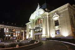 Chernivtsi drama theatre, Ukraine royalty free stock photography