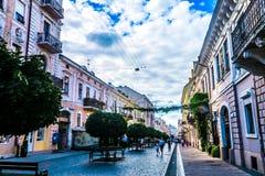 Chernivtsi Kobylyanskoi Street 02 stock photography