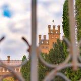 Chernivtsi miasto Ukraina, Wrzesień, - 27 2018: vauli sufit w budynku siedziba metropolita Bukovina i Dalmatia obraz royalty free
