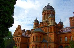Chernivtsi national university building Stock Photography