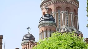 Chernivtsi National University campus view.  stock video