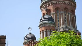 Chernivtsi National University campus view.  stock video footage