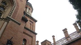Chernivtsi National University campus view.  stock footage