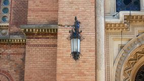 Chernivtsi National University . Tracking shot with low angle view on campus tower. Chernivtsi National University . Tracking shot with low angle view on campus stock footage